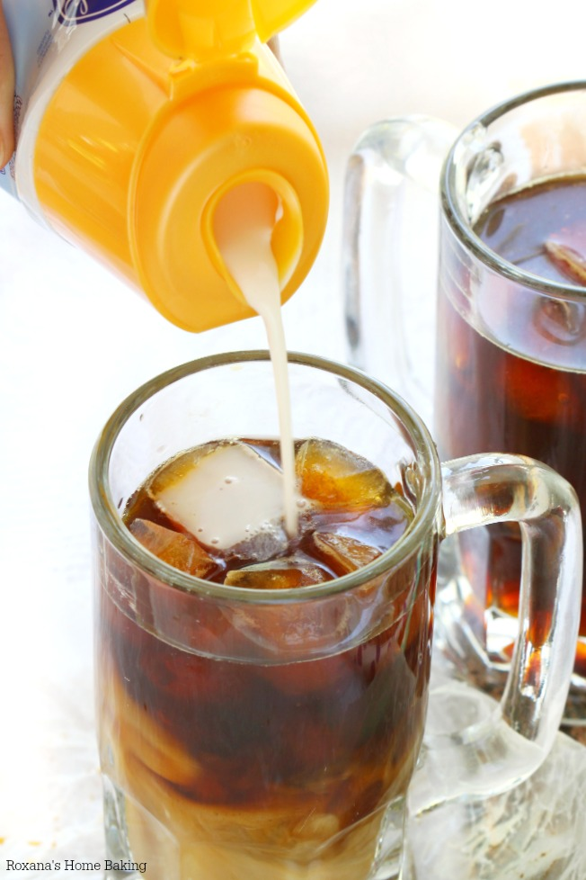 Cool down with this easy to make iced coffee! Comes together in 5 minutes tops!