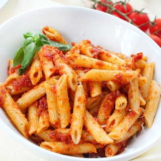 penne with Sicilian pesto recipe 1