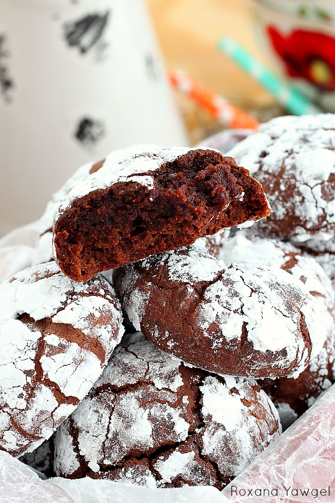 Easy Chocolate Snowball Cookies