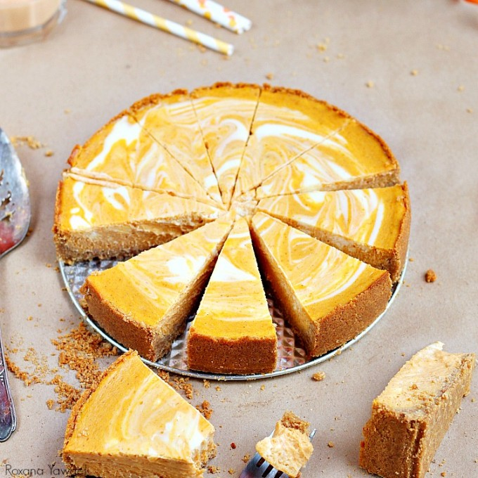 An Pumpkin Pie Cheese Cake Receipe