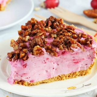 no bake cranberry cheesecake pie