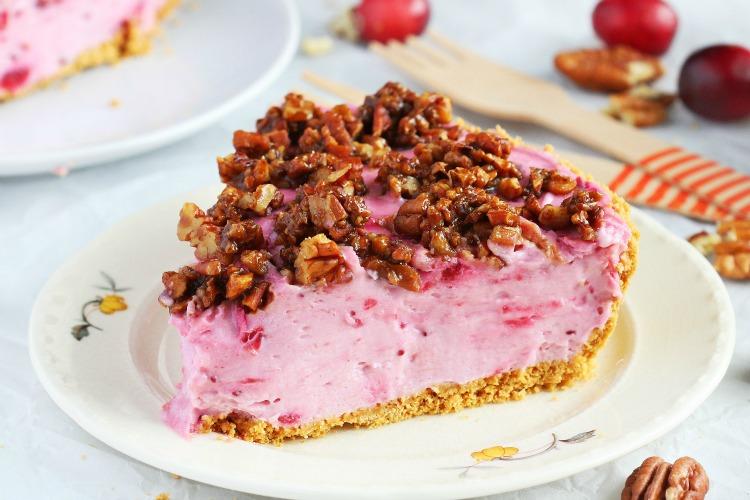 No bake cranberry cheesecake pie recipe