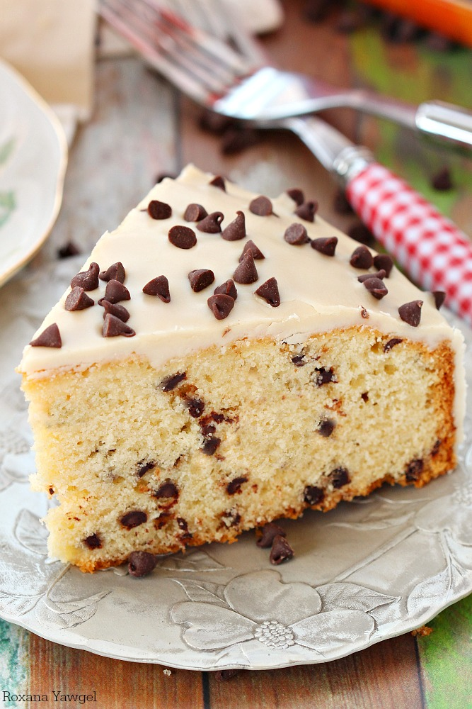 ... chocolate chip coffee cake with coffee icing! Now you can eat your