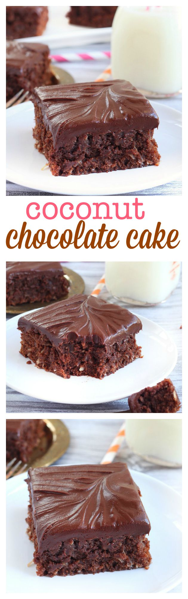 , this double chocolate coconut dessert is bursting with coconut ...