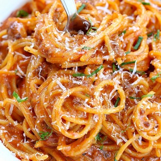 one pot spaghetti with meat sauce recipe 1