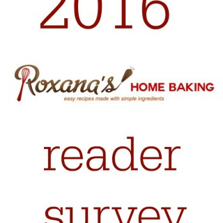 Roxana's Home Baking 2016 reader survey
