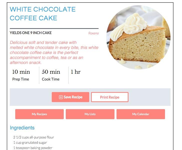 a treats affair recipe card