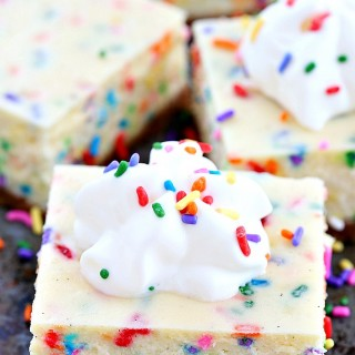 Funfetti vanilla bean cheesecake bars
