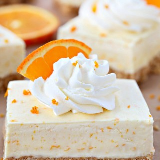 Orange dreamsicle pie bars recipe