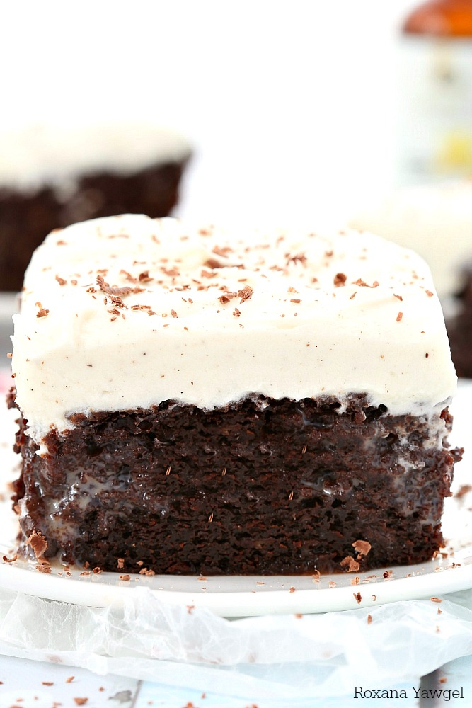 With a secret ingredient that brings out all the chocolate goodness from both the baking chocolate and cocoa powder, this made from scratch double chocolate poke cake with vanilla bean frosting will be everyone's favorite at the next potluck!