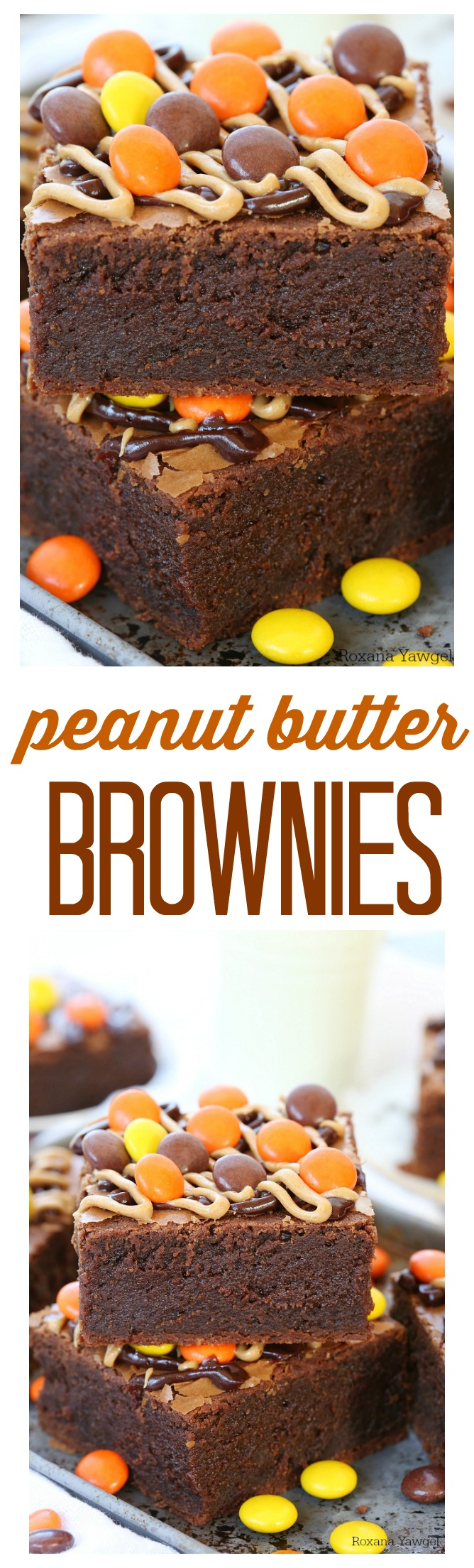 Thick, chewy and fudgy, these over the top delicious peanut butter brownies will be your new favorite treat! Just as easy as a box mix, but so much better.