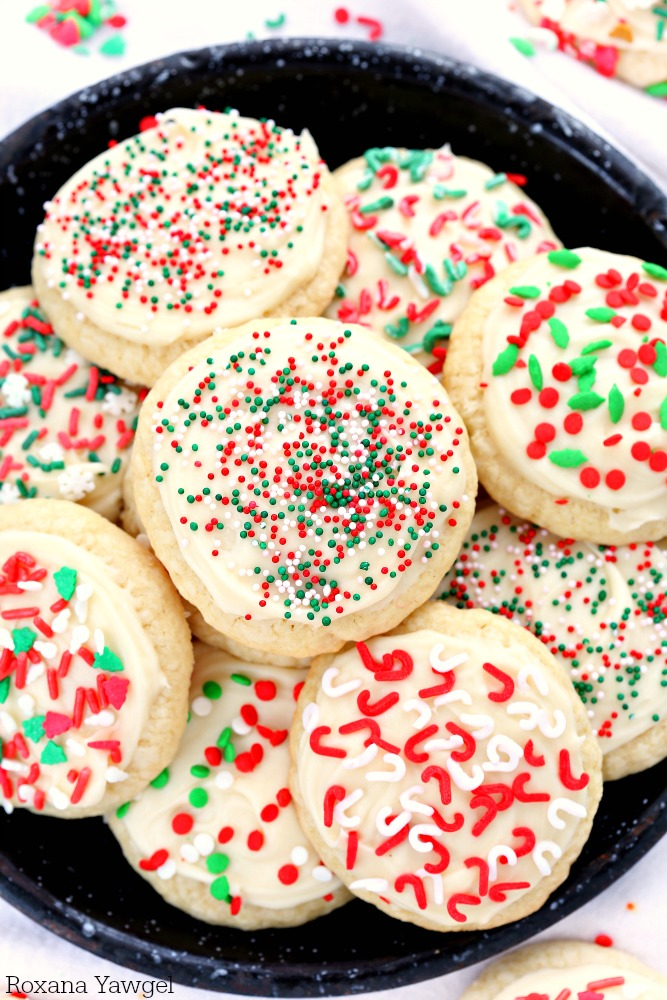 Two secret ingredients make these all butter sugar cookies a family favorite and the first cookie to go at a party! No matter the season or the occasion, this is my go-to recipe for sugar cookies!