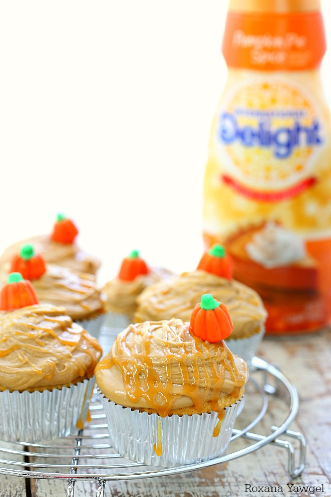 Perfect for all pumpkin lovers, these moist and sweet pumpkin cupcakes topped with an easy to make caramel frosting are a fall favorite dessert!