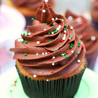 This holiday season delight your guests with these peppermint mocha cupcakes with chocolate buttercream frosting. Easy to make, moist and tender, bursting with both peppermint and mocha flavor and topped with the most delicious chocolate buttercream frosting!
